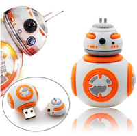 Wholesale Cheap 8gb Usb Drive - Star Wars BB-8 High Quality 3D Design USB Flash Drives 2016 Best Selling Bulk Cheap Cartoon PenDrives 8GB 4GB 16GB With Opp Bag