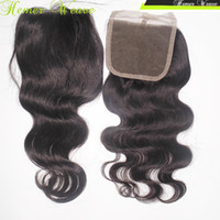 "Wholesale Cheapest Brazilian Virgin Hair - Cheapest Clousre 1 piece Virgin Brazilian Hair Body Wave Straight Silky Soft 8""-20"" Free Shipping"