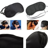 Unisex Travel Camping Maschere Occhio Nero Outdoor Sleeping Eye Patch Nap Light Soft Riparo Blindfold Sleep Shadow Cover 4000pcs