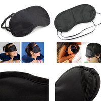 Unisex Travel Camping Outdoor Black Eye Masks Sleeping Eye Patch Nap Light Мягкий отдых Blindfold Sleep Shade Cover 4000pcs