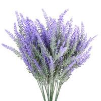 Kaufen Sie Im Grosshandel Lila Lavendel Kunstliche Blumen 2018 Zum
