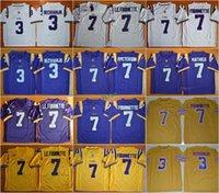 Wholesale Mathieu Football Jerseys - Football LSU Tigers College Jerseys 3 Odell Beckham Jr. Leonard Fournette 7 LE.FOURNETTE 7 Patrick Peterson 7 Tryann Mathieu Purple Yellow