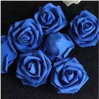 çiçek şakayık gül kamelya düğün toptan satış-Şenlikli ÇIÇEK KAFALARı 100 p Yapay Ipek Kamelya Gül Sahte Şakayık Çiçek Başkanı Düğün Ev Dekoratif için 6-7 cm Dekoratif Flowewrs
