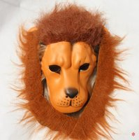 Halloween Props Adulto enojado cabeza de león máscaras animal Full Celebrity Party Fancy Clásico Cosplay Latex Lion Mask