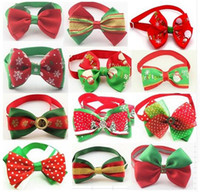 Wholesale Accessories For Dogs Wholesale - Christmas Pet Cat Dog Bow Ties Cute Neckties Collar Pet Puppy Dog Cat Ties Accessories Grooming Pet Product Goods for Pets