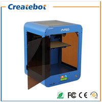 Wholesale Printer Size - Createbot Mid 3D Printer Hot Sell Full Metal Glass platform Printing Size 205*205*250mm 3D Printer KIT 1rolls filament 8GB SD Card Free