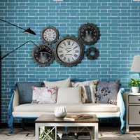 Wholesale Order Mixed Kitchen - Mix Order Vintage Embossed Textured 3D Effect Brick Wall Paper Roll Vinyl Modern Brick Wallpaper For Living room Background Wallcovering