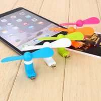 Wholesale Mini Micro USB Mobile Phone Fan Portable Flexible Low Noise USB Fan For Android Phones With opp Package