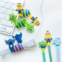 Wholesale Wholesale Computer Cables Organizer - Cartoon Earphone Cable Wire Cord Organizer Holder Winder for Phone Tablet MP3 MP4 MP5 Computer Headphone winding thread tool