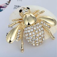 Nuovi talloni Quailty Fashion Rhinestone Animal Brooch Gioielli Braccialetti Bee Brooches Perni Accessori per le donne