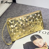 Wholesale Elegant Purses - 6 Color High quality Bling Stone Pattern Phone Cash Purse Wallet Elegant clutch purse Cell Phone Pocket Credit Card Coin Purse Pocket