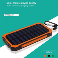 Wholesale Dhl Lantern - most popular solar mobile power supply 20000mah solar powerbank with camping lantern and carabiner wholesale DHL free