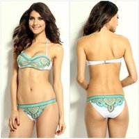 Sky Blue Bikini Niedrige Taille Ärmellos Backless Sling Hollow Out Party Bademode Auf Lager 2016 Summer Style
