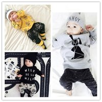 Wholesale Wholesale Cone Pieces - Baby boy clothing sets Ins Milk  cone outfits Fashion Toddler clothes cotton Long sleeve T-shirts tops pants sets wholesale 2017