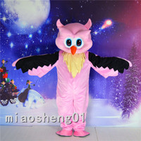 Wholesale Owl Mascot Cartoon - High quality The two kinds of color The owl Mascot Cartoon Animal Mascot Costumes Halloween Costume Dress Adult Size Free Shipping