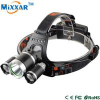 Wholesale Cree Bicycle Flashlight - Cree XM-L T6 5000LM LED Headlamp Headlight 4 Mode Head Lamp LED Flashlights Light For Bicycle Bike Light Outdoor Sport Biking Climbing