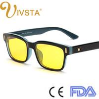 ivsta anti blue ray computer glasses gaming eye strain relief eyewear men anti glare radiation uv400 yellow lenses frame 8084 custom logo