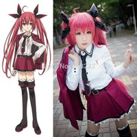 Wholesale Kotori Itsuka Anime - Wholesale-DATE A LIVE Itsuka Kotori School Uniform Dress Outfit Anime Cosplay Costumes