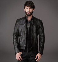 Wholesale Leather Splice Short Sleeve - Latest men leather jackets your winter ideal jackets concise slim quiet jackets 4 pockets closed with zipper cost-effective jackets