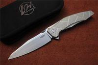 Wholesale Apache Ah - Free shipping, High quality LW AH-46 APACHE knife,Blade:M390(satin),Handle:TC4 Plane bearing outdoor camping Folding knife EDC