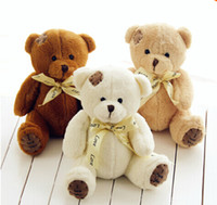 Wholesale Teddy Bear Wedding Decorations - Wholesale-1Piece 18cm High Quality Super Kawaii Cute Lovely Teddy Bear Plush Toys & Stuffed Dolls Wedding Decoration Baby Toy Baby Gift