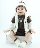 Wholesale Adora Boy Baby Doll - 22 inch Very Soft Silicone Vinyl Adora Premium Quality Play Doll Reborn Baby Boy doll in Woven Doll Outfits