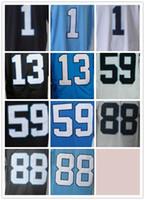 Wholesale Drop Cam - Wholesale 59 Luke Kuechly 1 Cam Newton 88 Greg Olsen Stitched Jerseys Number Panthersded Blue Black White Free Drop Shipping