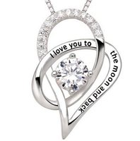 Wholesale Stainless Steel Heart Shaped Necklace - Best Quality! Rhinestone Sweetheart Shape Pendant Necklaces Stainless Steel Link Chains Crystal Jewelry for women men