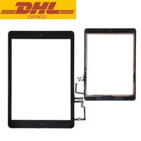 Wholesale Ipad Glass Home - Replacement Touch Screen Lens Glass Digitizer For iPad Air 5 A1474 With 3M Glue + Home Button Touchscreen 9.7 inch DHL DHL Freeshipping