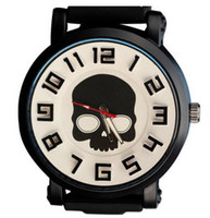 Wholesale watch woman leather skull - Hot sale!wholesale-2016 new women fashion skull designer watches leather strap big dial couple watches men luxury brand WH-12 free shipping