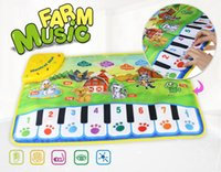 Wholesale mini piano toys for sale - Musical Mat x60cm Baby Learning Carpet Children Play Mat baby Piano Music gift baby educational mat Electronic toys for kids
