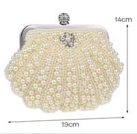 sac à main noir blanc achat en gros de-Bling Bling Noir Perles De Perles Blanches Embrayages Double Poignée Sacs À Main De Mariée Soirée Cristaux De Bal D'anniversaire Sacs D'occasion Spéciale