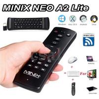 android neo minix toptan satış-MINIX NEO A2 Lite Fly Air Fare 2.4 Ghz Kablosuz Klavye Altı eksenli Pil Dahili Multi-OS Android Akıllı TV Box PC Için destek