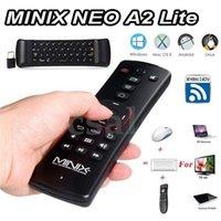 Wholesale Minix Tv - MINIX NEO A2 Lite Fly Air Mouse 2.4Ghz Wireless Keyboard Six-axis Battery Built-In Multi-OS support For Android Smart TV Box PC