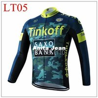 Wholesale Army Bike Jersey - 2015 tinkoff saxo bank army Long Sleeve Cycling Jersey Bicycle Bike Outdoor Spring Autumn Sportswear Cloth Zippered Breathable