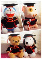 Wholesale Graduation Stuffed Animals - Graduation 20cm Bear Dog Rabbit Doraemon Kids Plush Toy Soft Stuffed Animals For Baby Girls Kids Lover Best Gift Good Quality