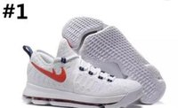 Wholesale Men S Shoes 12 - 2016 Hot Sale KD 9 Mens Basketball Shoes KD9 Oreo Grey Wolf Kevin Durant 9s Men's Training s Sneakers Warriors US Size 7-12