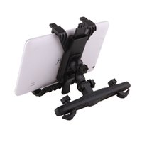 Wholesale Android Tablet Mount - Wholesale Universal Car Black Back Seat Headrest Mount Adjustable Holder For iPad Tablet PC Stand Android Tablet Holder
