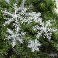 Wholesale White Snowflake Tree Ornaments - 2016New Delicate White Snowflake Ornaments Christmas Tree Decorations Home Festival Decor