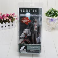 Wholesale Neca Toys Resident Evil - 7'' Free Shipping FS NECA Official Resident Evil 10th Anniversary Zombie Action Figure Toy with box