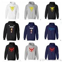 Wholesale Size Pullover Youth - Youth Poke Go Hoodies Plus Size Sweatshirts Pullover Mens women Pikachu Jacket Poke Ball Coat Pocket Monster Outwear Poke Jumpers KKA754