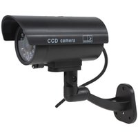 Wholesale Decoy Security Cameras - Waterproof CCTV False Emulational Outdoor Fake Dummy Security Camera Decoy with Wireless Blinking Flashing Red LED CCT_710
