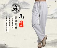 Wholesale Yoga Pants Men Harem - Zmario Chinese Style Men's Super Soft Modal Spandex Harem Folk Style Yoga Pilates Pants Free Shipping