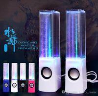 su dansı çeşmesi hoparlörü toptan satış-Sıcak Satış RainDance Çeşmesi Hoparlör Yeni Marka Dans Su Hoparlör Aktif PC Için Taşınabilir Mini USB LED Işık Hoparlör MP3