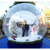 Wholesale inflatable globe ball online - Inflatable Christmas Ball for photo Custom new year Decoration PVC Christmas festival Inflatable Snow Globe for Display