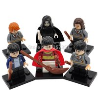 Wholesale Mini Model Building - Harry Potter Minifigures Hermione Ron Lord Voldemort 6pcs lot Cartoon Building Blocks Sets Models Mini Figures Toys