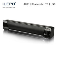 Wholesale Smart Home Audio Wholesale - LP-09 Soundbar HIFI Box 10W USB Portable Audio Players Bluetooth Speaker with FM Column Sound Bar For Small TV Smart Phone Computer