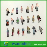 Wholesale People For Model Building - 100pcs High quality Architecture Model Figure 1;300 Painted Miniature Model People Figure for sale
