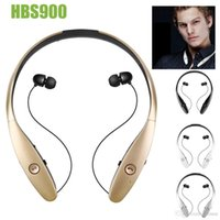 Wholesale Sports Cell Phones - Wholesale Hot Stereo HBS-900 Bluetooth4.0 Wireless headphone,Luxury HBS900 Sports in-Ear buds bluetooth neckband headsets for Mobile Phones