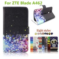Wholesale Case Wallet Neo - Leather Flip wallet pouch phone case Cover For ZTE Blade A462 For Motorola Z Force for blu neo xl N110U neo x N070U
